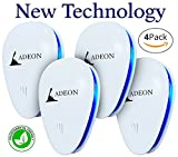 Ultrasonic Pest Repeller - Pest Control - Pest Repeller - Electronic Pest Repeller Plug In - Bug Repellent - Repel Insect Rat Roach Mice Ant Spider Mosquito [4 pack]