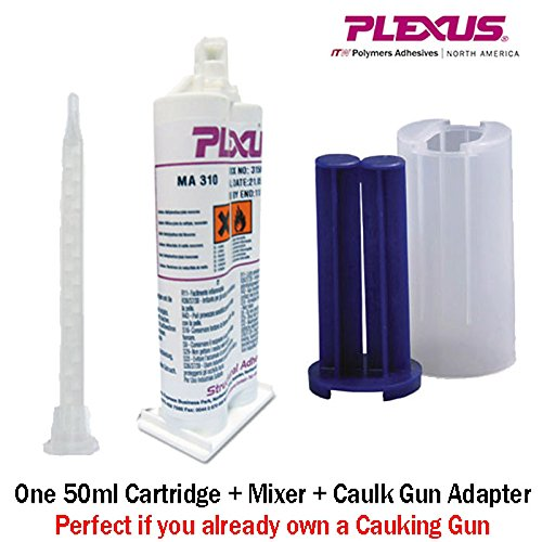 Plexus MA310 All Purpose High Strength MMA Adhesive (#31500) 50ml/1.7oz Caulk Gun Adapter Kit