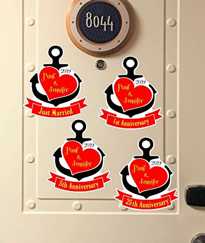 Personalized Anniversary or Wedding,Disney Inspired, Cruise Ship Door Magnet, Disney Inspired, Cruise,Mickey Mouse Magnet Heavy Duty