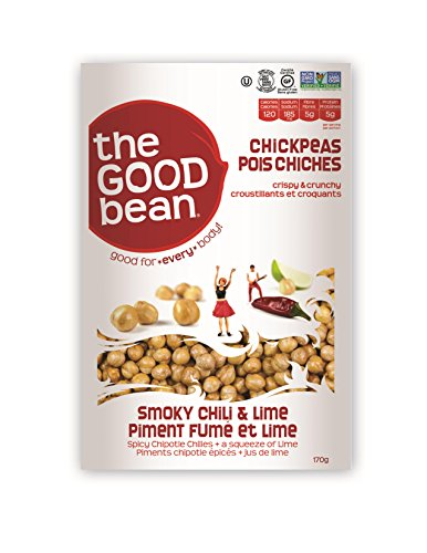 The Good Bean Chickpea Snacks, Smoky Chili/Lime, Gluten and Nut Free, 6 Ounce ()