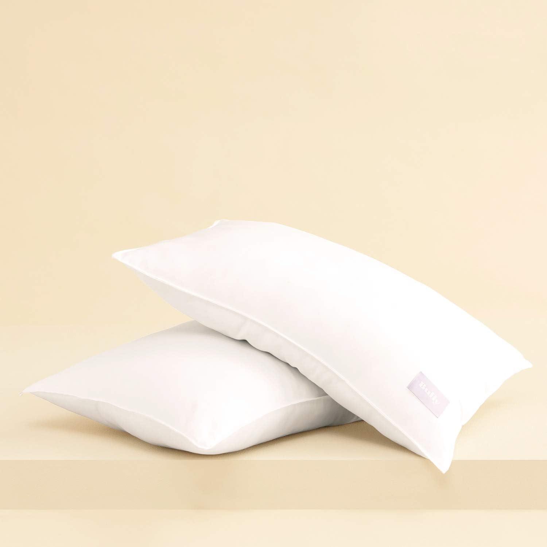 Buffy Cloud Pillow - Hypoallergenic Eucalyptus Fabric - Pack of 2 - Standard Size - Medium