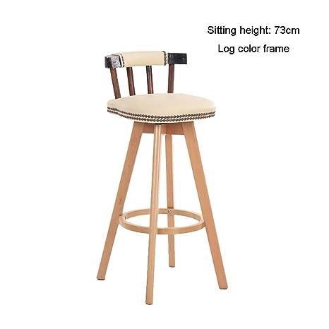 Outstanding Amazon Com Solid Wood Rotating Stools Retro Solid Wood Spiritservingveterans Wood Chair Design Ideas Spiritservingveteransorg