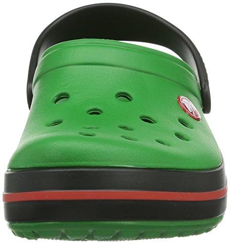 Crocs Crocband Clog Zuecos con Correa, Unisex Adulto Verde (Kelly Green/Black)