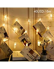 Battery Operated Warm White Photos Clips String Lights