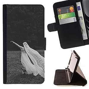Gris Matrimonio Boda Negro Blanco- Modelo colorido cuero de la carpeta del tirón del caso cubierta piel Holster Funda protecció Para Sony Xperia Z1 L39