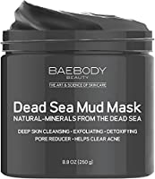 Dead Sea Mud Mask Best for Facial Treatment and Body. Helps Fight Look Of Wrinkles, Oily Skin, and Improves Look of Overall Complexion. 8.8oz