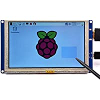 GeeekPi 5 inch HDMI Monitor LCD Resistive Touch Screen 800x480 LCD Display USB Interface for Raspberry Pi 3/2 Model B/B+ & Banana Pi (Plug and Play Free Driver)