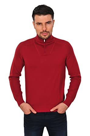 Zegna Sport Pullover Herren Rot Wolle Regular Fit Casual 3XL  Amazon ... ead7c47ce9