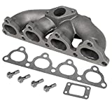 T3 T3/T4 Turbo Flanged Cast Iron Exhaust Manifold Upgrade with Centered 35/38mm Wastegate Flange For D-Series Sohc Engines