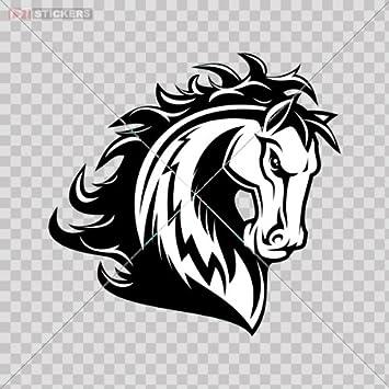 Amazon.com: Sticker Aggressive Horse Color Print (8 X 7.7 Inch ...