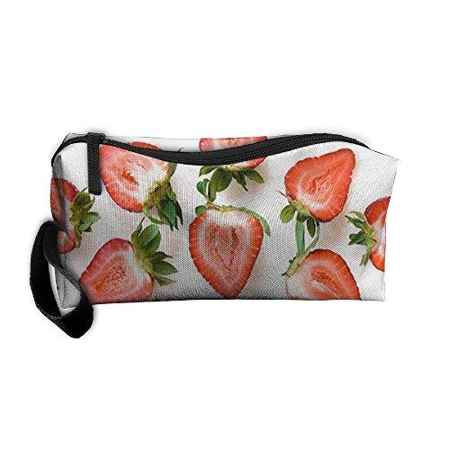 CXCcoco Strawberry Fruits Small Women Makeup Bag Toiletry Pe
