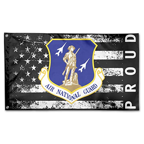 P-flager Proud American Flag with United States Air Force National Guard Flag 3x5 Ft