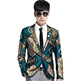 African 2018 Men's Blazer Jackets Aviator Coat Button Suit Dashiki Vintage Clothing Wear 4 S