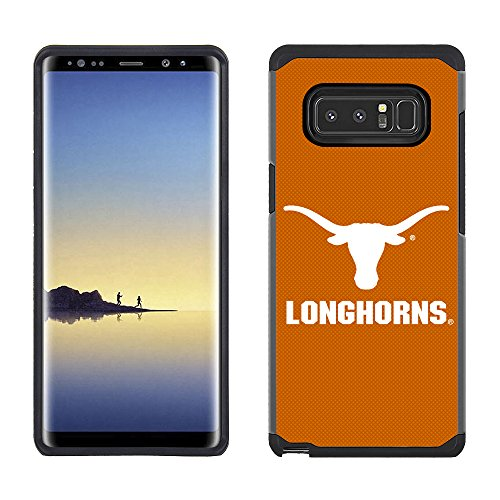 Prime Brands Group Textured Team Color Cell Phone Case for Samsung Galaxy Note 8 - NCAA Licensed University of Texas Longhorns ()
