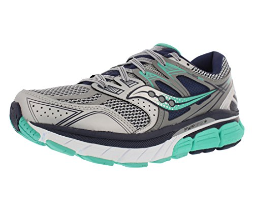 Saucony Women's Redeemer Iso Running Shoe, Silver/Grey, 10 M US