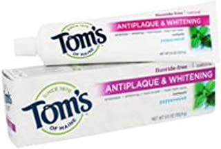 product image for Tom's of Maine Natural Fluoride-Free Antiplaque & Whitening Toothpaste, Peppermint 5.50 oz