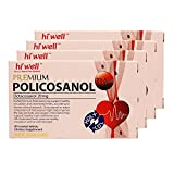 Hiwell Premium Policosanol 33.4mg (Octacosanol 20mg) 60 Tablets (Pack of 4)