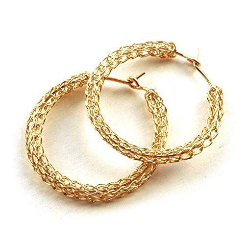 Amazon Com Hoop Earrings For Women Medium Gold Hoop Earring