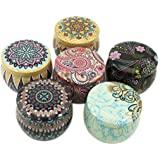 Leiqin DIY Candle Making kit,Candle Tin Jars,Retro European Style Metal Storage case for Candy Sweetie Cable Home organizer-6PCS