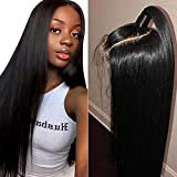 Muokass 4x4 Lace Front Wigs Straight Hair Brazilian