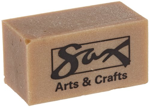Sax Gum Art Erasers, 2 x 1 x 1/2 Inches, Brown, Pack of 12