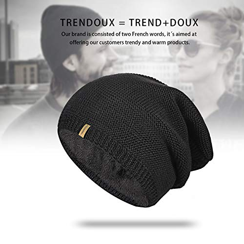 6bc13d3fc9768 TRENDOUX Beanie Hat Winter Warm Knit Hats Cold Weather Skull Cap for Men  Women