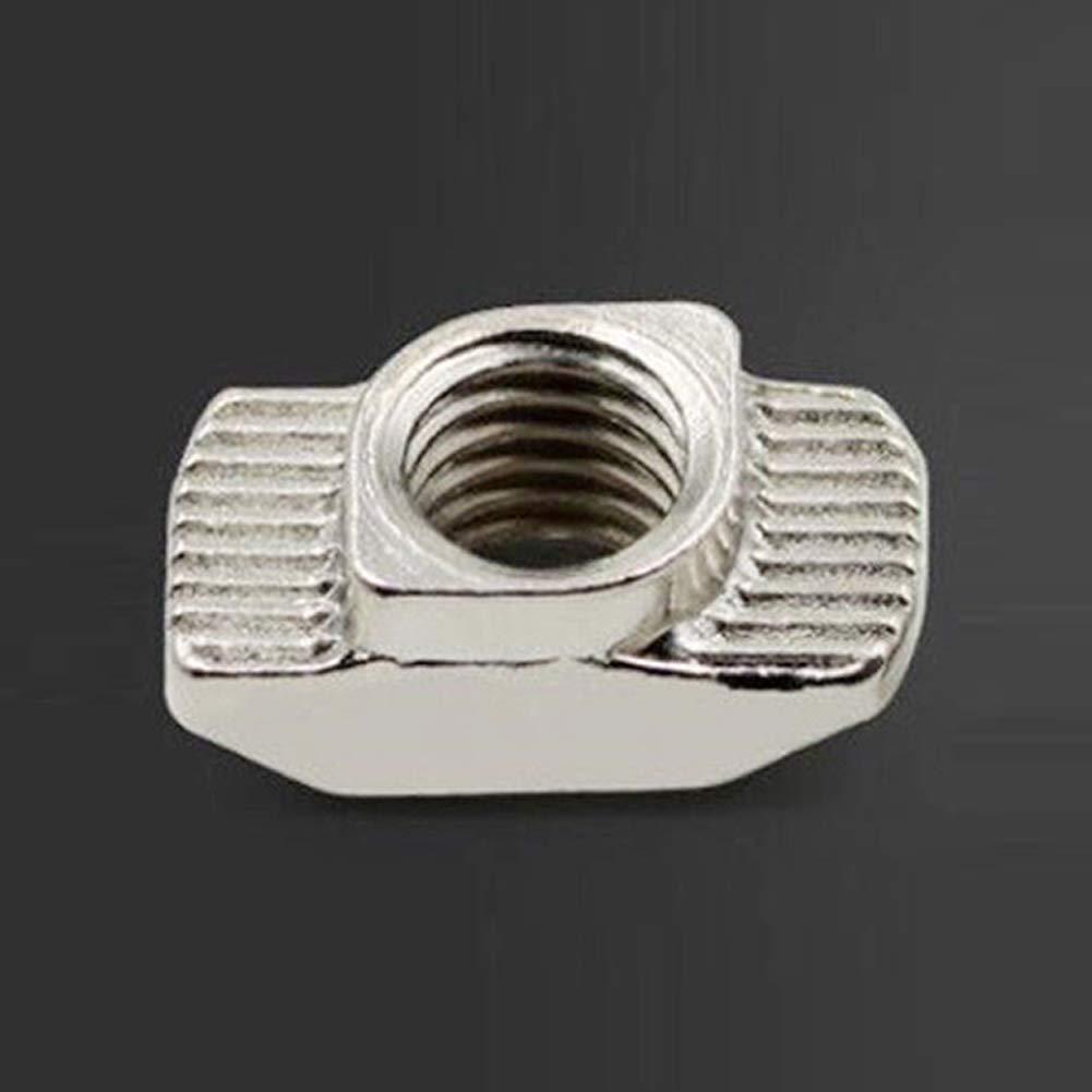 T-Nuts 20pcs Set M3 M4 M5 Schiebeprofil Aluminium Profilverbinder f/ür 3D Drucker EU Standard Carbon Stahl Innen T-Slot Block Extrusion Industrial 20 Series Fasten