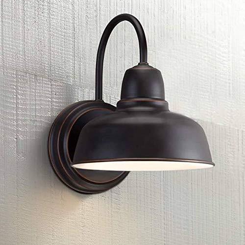 Rustic Outdoor Wall Light Fixture Bronze 11 1/4