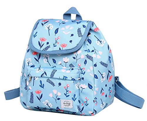 (MIETTE Mini Small Purse Backpack Cute for Women, Floral, LightSkyBlue)