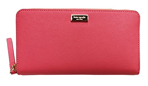 Kate Spade New York Neda Laurel Way Patent Leather Zip Around Wallet Warm Guava from Kate Spade New York