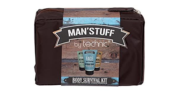 3fa63fea4209 Amazon.com : Technic Man'stuff Wash Bag Bath and Body Gift Set - All ...