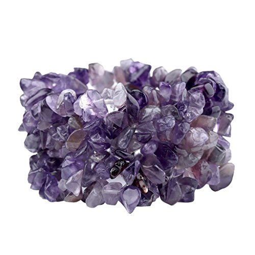 Amethyst Turquoise Crystal Gemstone Bracelet