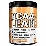 Evlution Nutrition BCAA Lean Energy – Energizing Amino Acid for Muscle Building Recovery and Endurance, with a Fat Burning Formula, 30 Servings (Peach Lemonade)