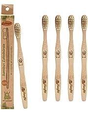 Birkengold 2107 bambusowa szczoteczka do zębów dla dzieci, w kartonie, nie zawiera bisfenolu A (BPA), wegańska, 5 sztuk (5 x 1 sztuka)