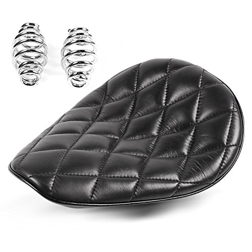 Solo Seat for Harley Davidson Sportster Forty-Eight 48 (XL 1200 X) with springs Craftride Diamond black