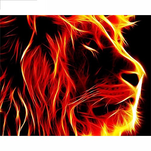 WindGoal 5D DIY Diamond Painting Resin Pictures Of Crystals Embroidery Patchwork & Cross Stitch For Decoration Gift-Lion 1