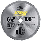 Vermont American 26157 5/8-Inch Arbor 6-1/2-Inch 108 Tooth Xtend Cordless Steel Cutting Circular Saw Blade