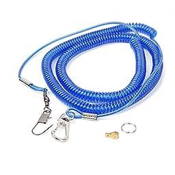 Parrot Bird Leash Kit Anti-bite Flying Training Rope for Agapornis Fischeri (Blue)