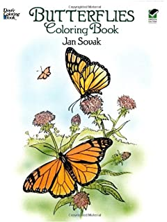 Dover Publications Butterflies Coloring Book Nature