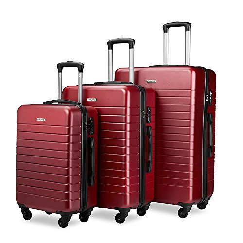 Luggage Set Spinner Hard Shell Suitcase Lightweight Luggage - 3 Piece (20