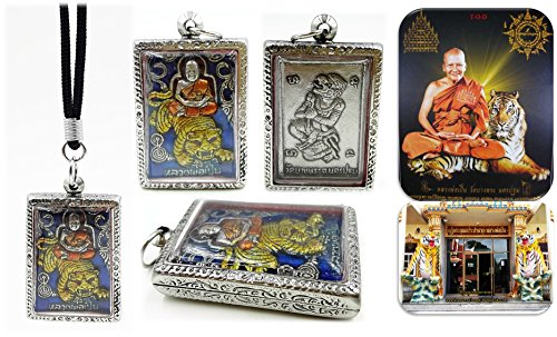[Antique style magic Lp' pern ridding tiger stainless case talisman amulets for life protection charm pendant fetish with amulet necklace & special] (Joker Nurses Costume)