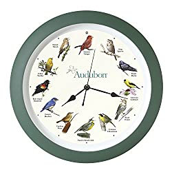 Mark Feldstein & Associates Audubon Singing Bird Clock, 13