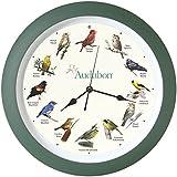 "Mark Feldstein & Associates Audubon Singing Bird Clock, 13"""