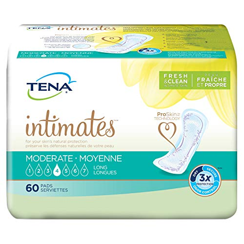 TENA Intimates Moderate Long Incontinence Pad for Women, 60 Count