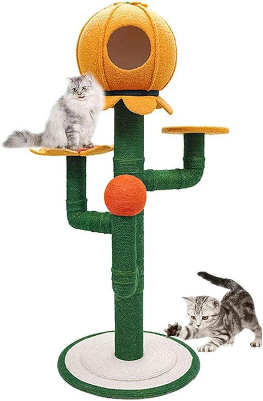 UTOPIAY Árbol para Gatos, Árbol Rascador para Gatos, Rascador para Gatos, Sunflower Design,B: Amazon.es: Hogar