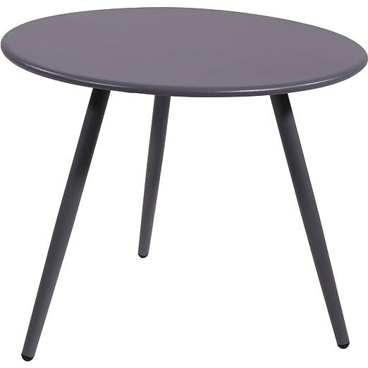 Mesa auxiliar Rafa decorativa de metal Ø45 X 36,5 CM mesa de metal ...
