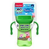 Playtex Baby Sipsters Spill-Proof Peppa Pig Spoutless 360 Training Cup with Removable Handles, Stage 1 (4+ Months), Pack of 1 Kids Cup