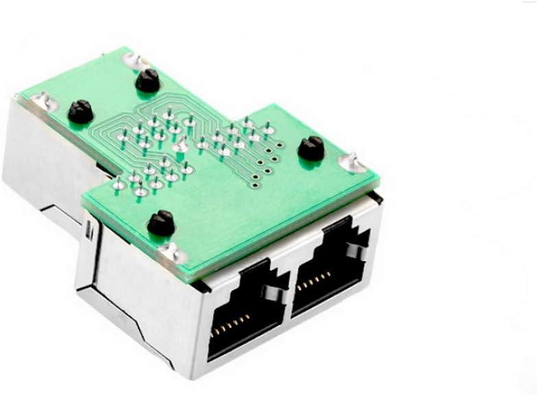 Godagoda RJ45 Splitter Adapter Female Socket Adapter Interface Ethernet Cable Extender Plug Network Connector 1pcs