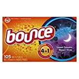 Bounce Fabric Softener Dryer Sheets, Sweet Dreams Scent, 105 Count