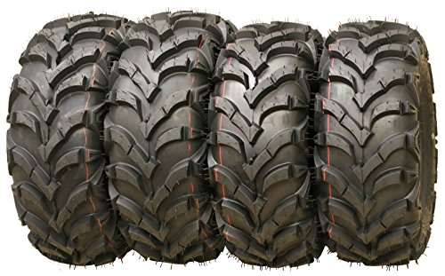 Set of 4 WANDA ATV/UTV Tires 25X8-12 25X10-12 P341 Solid Deep Tread for 2006-2014 SUZUKI KING QUAD 700 750
